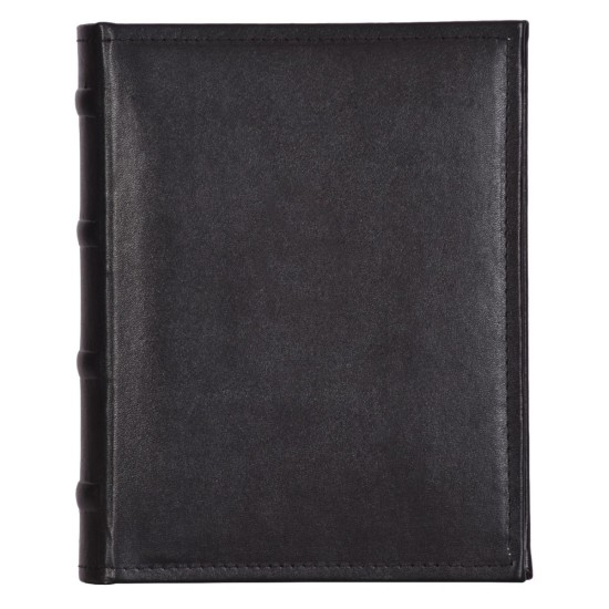 Leatherette Black Stitched Slip In